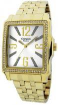 Relógio analógico feminino champion dourado cn27965h - champion