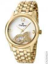 Relógio analógico feminino champion dourado cn28482h - champion