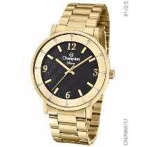 Relógio analógico feminino champion dourado cn29687u - champion