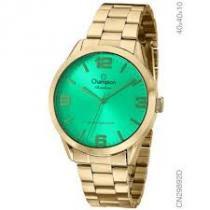 Relógio analógico feminino champion dourado cn29892d -