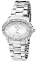 Relógio analógico feminino champion prateado cn28795q -