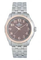 Relógio analógico feminino champion prateado e rosê cn275720 -