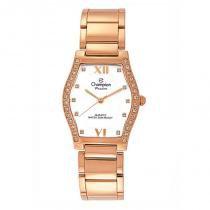 Relógio analógico feminino champion rosê cn28624z - champion