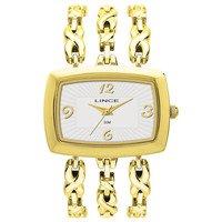 Relógio analógico feminino lince dourado lqgb055l s2kx -