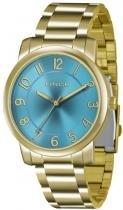 Relógio analógico feminino lince dourado lrg4336l d2kx - lince