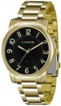 Relógio analógico feminino lince dourado lrg4336l p2kx - lince