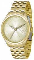 Relógio analógico feminino lince dourado lrg4345l c1kx -