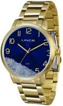Relógio analógico feminino lince dourado lrg4379l d2kx -