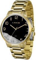 Relógio analógico feminino lince dourado lrg4379l p2kx - lince