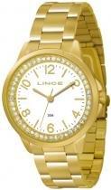 Relógio analógico feminino lince dourado lrgj025l s2kx - lince