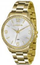 Relógio analógico feminino lince dourado lrgj049l s2kx -