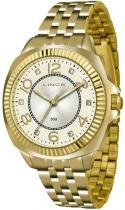Relógio analógico feminino lince dourado lrgj060l c2kx - lince