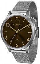 Relógio analógico feminino lince prata -