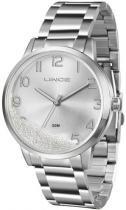 Relógio analógico feminino lince prata - lince