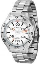 Relógio analógico masculino lince prateado -