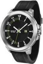 Relógio analógico masculino lince prateado pulseira de silicone - lince