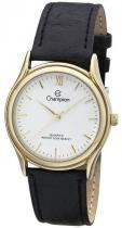 Relógio analógico unissex champion dourado ch22297m -
