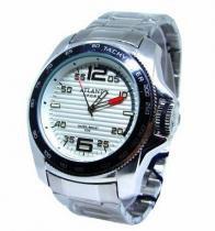 17db5db1183 Relogio atlantis masculino a3360 prata fundo branco -