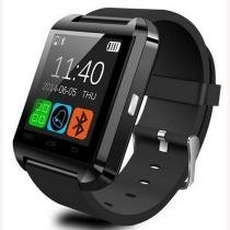 2e4aedc85fb Relogio Bluetooth Smartwatch u8 Compativel Iphone Android Sem fio Preto -