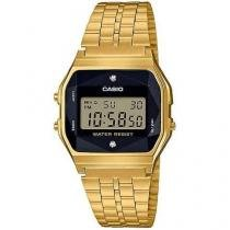 Relógio Casio Unissex Vintage Diamonds A159WGED-1DF -