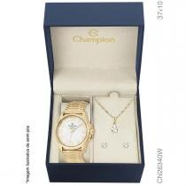 Relógio Champion Analógico Feminino CN26340W + semijóia -