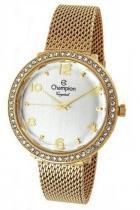 Relógio champion crystal feminino cn27376h strass dourado -