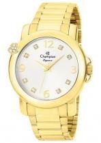 Relógio champion feminino c/ strass cn27161h dourado - Champion