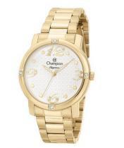 Relógio champion feminino c/ strass cn27634h dourado -