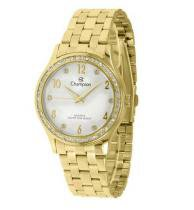 Relógio champion feminino c/ strass cn28982h dourado - Champion