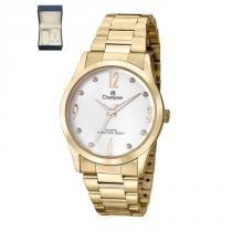 0ce728e0a8e Relógio Champion Feminino Ref  Cn29061w Dourado + Semijóia -
