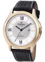 Relógio champion masculino ca21179b dourado preto -