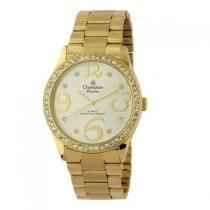 Relógio champion passion feminino ch24464h strass dourado - Champion