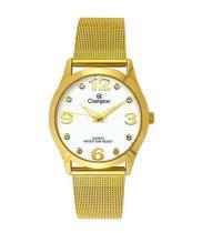 Relógio champion passion feminino cn29098h strass dourado - Champion