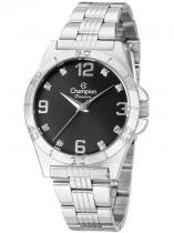 Relógio Champion Passion Feminino Prata Strass CN29927T -