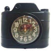 ebb5719f37c Relógio De Mesa Retrô Câmera Fotográfica - Versare anos dourados