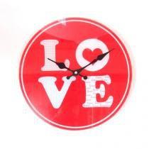 b4e16e9bcdf ... Vintage Gigante - Versare anos dourados. não disponível + decoração ·  Relógio De Parede Amor Vermelho Vidro 30X30 Cm - Maisaz