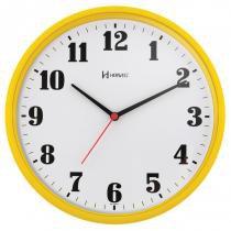 9aa0c5d2080 Relógio de parede analógico moderno plástico mecanismo step herweg amarelo -