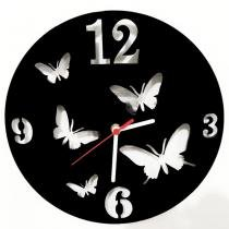 Relógio de Parede Decorativo Borboletas - ME Criative