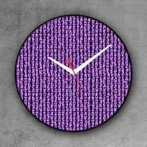 Relógio de parede decorativo, criativo e descolado   Montagem de tijolos - COLOURS  Creative Photo Decor
