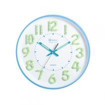 e394dd0c28c Relógio de Parede Herweg Redondo 6477 - Branco e Azul -