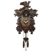 f951b229380 Relógio De Parede Herweg Ref  530001-084 Cuco Madeira Ipê -