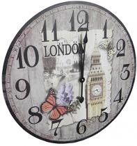 aa9d1783dc6 Relogio De Parede Redondo Grande Vintage Retro Decoracao Londres ( XIN-02)  - Braslu