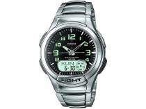 Relógio de Pulso Analógico e Digital Masculino - Casio Mundial AQ 180WD 1BV