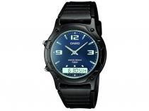 Relógio de Pulso Masculino Fashion Anadigi  - Cronômetro Casio Mundial AW-49HE-2AVU