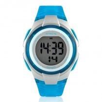 Relógio Digital Feminino Atrio Cooper Esportivo Azul À Prova DÁgua ES095 -