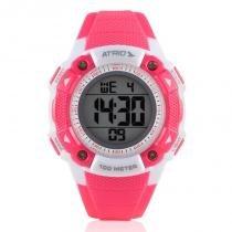 Relógio Digital Feminino Atrio Iridium Esportivo Rosa À Prova DÁgua ES097 -