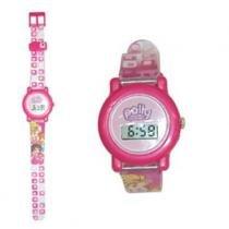 Relógio Digital - Infantil Polly Pocket - Transparente com detalhes Rosa - Monte Libano - Monte líbano