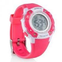 Relogio esportivo feminino atrio iridium com alarme e cronometro para corrida e natação com duplo ho - Multilaser
