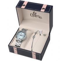 Relógio Feminino Allora Analógico - Resistente à Água Flor AL2035FKR/K3A c/ Bijouteria