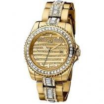 Relógio Feminino Ana Hickmann Analógico - Resistente à Água Calendário AH 28197 H